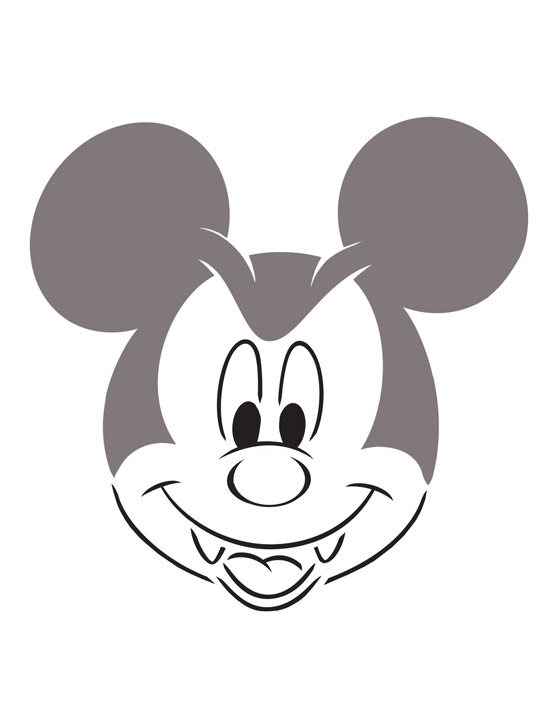 Mickey Mouse Pumpkin Template Disney pumpkin templates