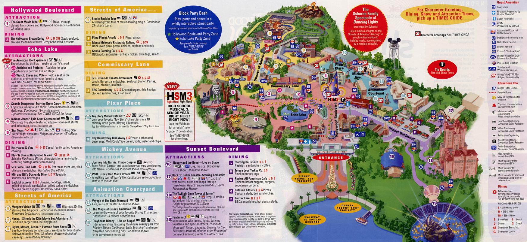 Disney's Hollywood Studios park map - Disney Secrets