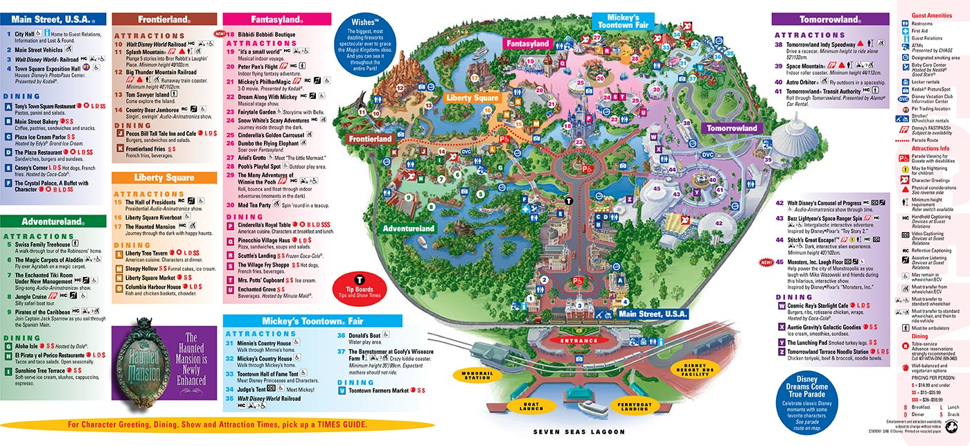 graphic about Printable Magic Kingdom Map called Magic Kingdom Map - Disney Secrets and techniques
