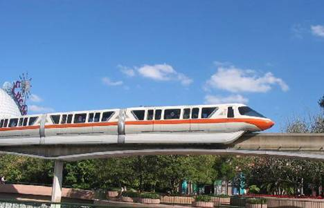 Disney Transport monorail busses